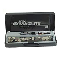 MINI MAGLITE 2-CELL AA (CAMO) WITH CASE & BATTERIES