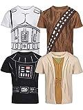 STAR WARS Chewbacca Darth Vader Stormtrooper Yoda Big Boys 4 Pack T-Shirt 7-8