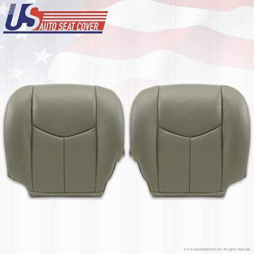 2003 2004 2005 2006 Chevy Tahoe Suburban GMC Yukon Leather seat Cover Pewter 922 (Driver Passenger)