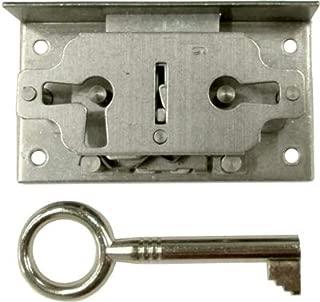 Half Mortise Right Hand & Left Hand Door or Drawer Lock Set - Antique Vintage Old Furniture Hardware | M-1814
