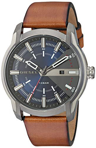 Diesel Men's 'Armbar' Quartz Stainless Steel and Leather Watch, Color:Brown (Model: DZ1784)