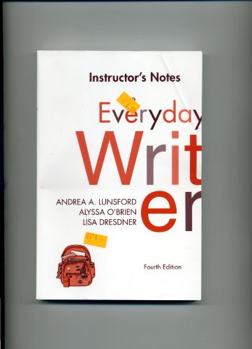 Instructor's Notes Everyday Writer