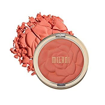 Milani Rose Powder Blush - Coral Cove  0.6 Ounce  Cruelty-Free Blush - Shape Contour & Highlight Face with Matte or Shimmery Color