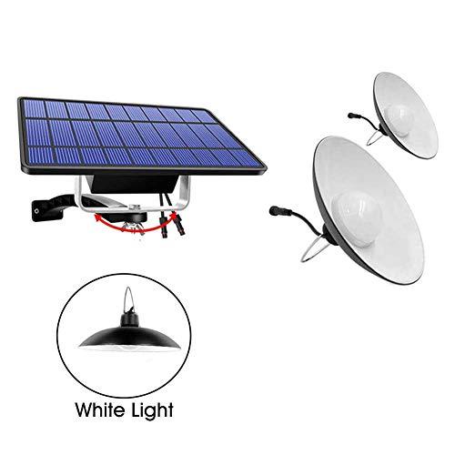 Yiran 7W Solar Hängende Lampe/Solarleuchten mit Fernsteuerungs, Schuppen Licht Hängende Lampe Solarleuchte Solarlampe mit 16/32 LEDs für Gartenhaus, Camping, Wandern, Angeln, Gartenhaus