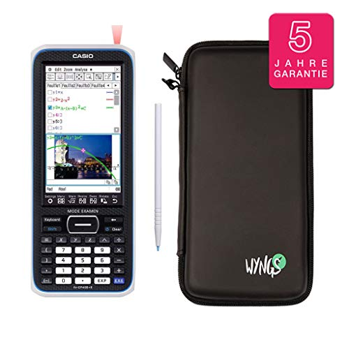 Casio Classpad II (FX-CP 400) + Erweiterte Garantie + SafeCase Schutztasche + Displayschutzfolie