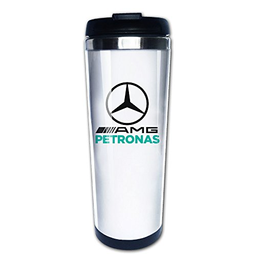 Nobee Thermobecher Mercedes AMG Petronas, Formel 1, Edelstahl-Tasse, Isolierbecher, personalisierbar
