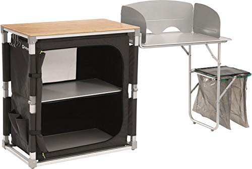 Outwell Padres camping kitchen Black,Grey,Wood Aluminium