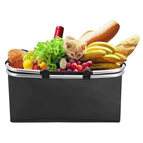 Alu Picknickkorb Kühlkorb Kühltasche faltbar wasserdicht Einkaufstasche Eisbeutel Frischtasche Thermotasche für Outdoor Picknick Reise