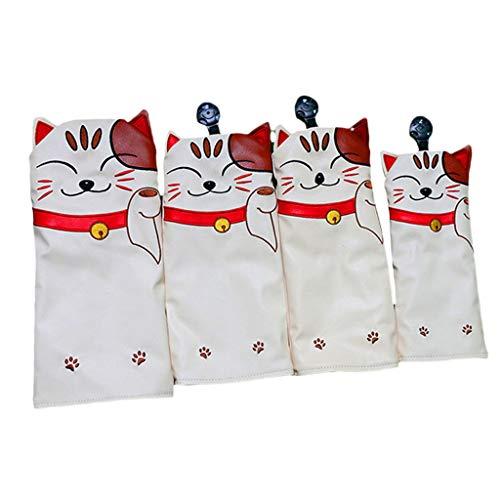 LOVIVER Katze Golf-Headcover Schlägerhaube Golf Driverkopfhüllen Holzkopfhüllen für NR. 13 5 UT Wood Driver