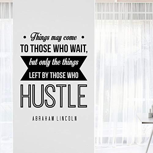 Dozili Abraham Lincoln Hustle inspirerende motiverende muur Art Decal Citaat voor thuis Woonkamer Office Decor 23x17 inch