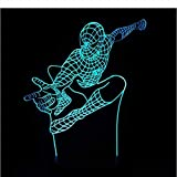 laoniebaozhuang Optische Täuschung Nachtlicht Marvel Superheld Spiderman 3D Tischlampe 7 Farben Wechselstimmung Lampe Spider Man Lava Lampe Dropship