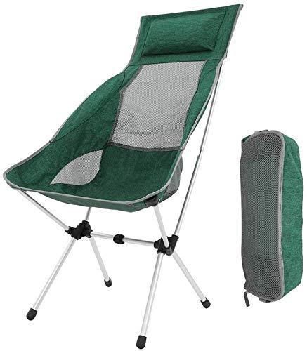 TXXM Silla de Camping Plegable, sillas de mochilero Plegables ultraligeras portátiles compactas en una Bolsa de Transporte para el Excursionista, Camping, Playa, Pesca, Picnic, al Aire Libre, jardín,