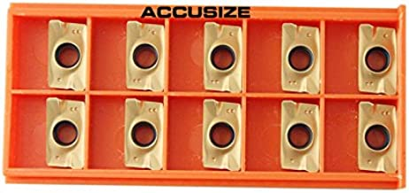 Accusize Industrial Tools 10 Pcs Carbide Inserts Apkt1604 Tin Coated, 0056-1604x10