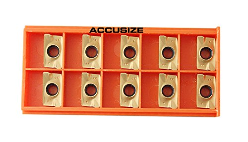 Accusize Industrial Tools 10 Pcs Carbide Inserts Apkt1604 Tin Coated, 0056-1604x10