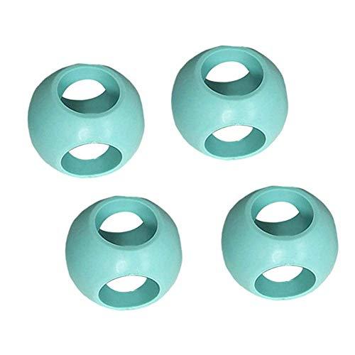 Lanceasy Lot de 4 boules de lavage magnétiques anti-calcaire pour machine à laver