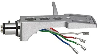 Audio Technica AT-HS1 Universal 1/2-Mount Headshell includes color coded wires and Mounting Hardward (Silver) (Works with AT-LP120-USB, AT-LP240-USB and AT-LP1240-USB Turntables)