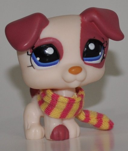 Jack Russell #1200 (Cream, Blue Eyes,) - Littlest Pet Shop (Retired) Collector Toy - LPS Collectible Replacement Single Figure - Loose (OOP Out of Package & Print)