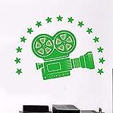 zzlfn3lv Fototapete Kino Filmzimmer dekorative Film Stil Vinylwand Film Film Kamera Film 80x57cm
