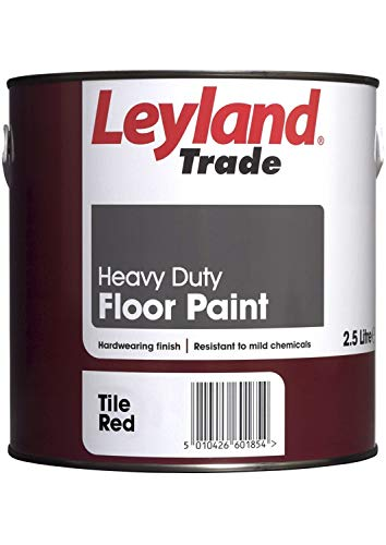 Leyland Trade 264620 Heavy Duty Floor Paint, Tile Red, 2.5 L