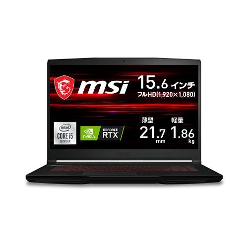 【NVIDIA最新RTX3050Ti搭載・薄型軽量】MSIゲーミングノートPC GF63 1.86Kg i5 RTX3050Ti/15.6FHD/8GB/512GB/GF63-10UD-059JP
