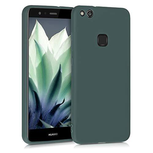 kwmobile Hülle kompatibel mit Huawei P10 Lite - Hülle Silikon - Soft Handyhülle - Handy Hülle in Blaugrün