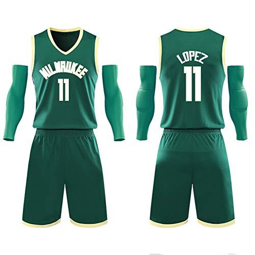 Heren basketbal jersey pak voor Kids 11# Brook Lopez Milwaukee Dollar Unisex Training Wear Heren Shirts White Pak Fans Sweatshirt