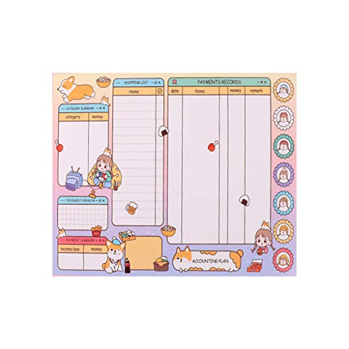 Generic Brands Cartoon Kawaii Monthly Weekly Daily Planner Notebook Agenda Notepad Stationery