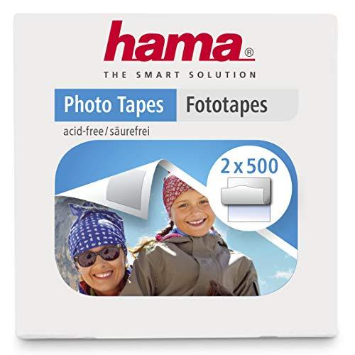 Hama Fototapes 1.000 Stück (2 x 500 Fotokleber, doppelseitig selbstklebende Klebepads, Klebepunkte passend für Alben)