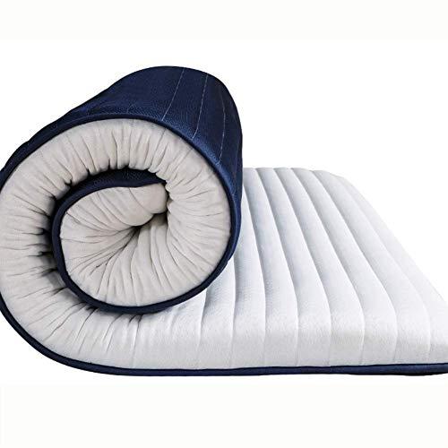 YSHCA Látex Protector de Colchón, Funda de colchón Antideslizante Confort Libre de alérgenos {6 Gel de Memoria} para el hogar Bed Apartment,A_90x200cm(35x79inch)