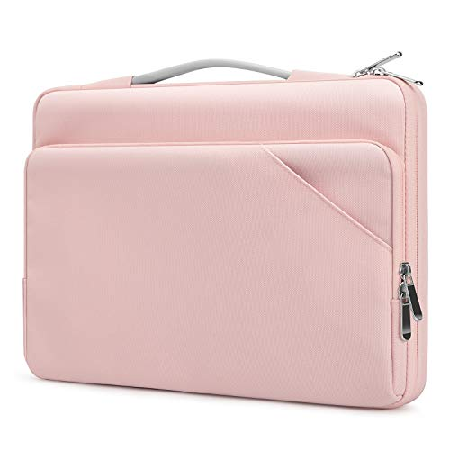 Dadanism 13.3 Inch Laptop Bag Sleeve Case for MacBook Pro/Air 13', iPad Pro 12.9' 2015, Surface Book/Laptop 13.5', Surface Pro 7/6/5/4 12.3' / Pro X 13', 360° Protective Bag with Handle, Pink