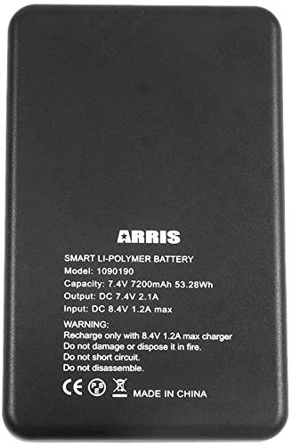 ARRIS 7.4V 7200Mah Lipo Battery for Heated Vest and Heating Jacket