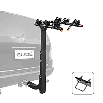 GUDE 3 Bike Rack for Car Hitch Mount 2   Heavy Duty Bicycle Carrier Rack Hitch Swing Rack Hanging with Anti Sway Double Folding for Cars SUV's Vans Minivans