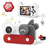 Aixingyun Kids Camera Children Digital Cameras for Girls Toys 1080P 2 Inch Toddler Video Best Birthday Gift for 3-10 Year Old Girls with 32GB SD Card (Red)