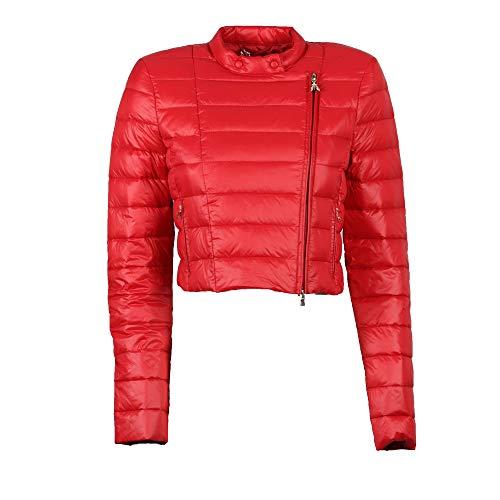 Patrizia PEPE Daunenjacke für Damen Ultralight aus echtem Daunen, Rot, Rot 38