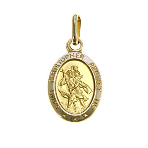 Alexander Castle Médaille de Saint-Christophe en or 9 carats