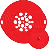 """Boil Over Spill Stopper Lid for Steam Pot, BPA-Free 11.5"""" Silicone Cover, Stop Pots & Pans From Messy Spill Overs Multi Function Kitchen Tool, Used in Bakeware, Microwave Boil Spill Stopper Safe Guard"""