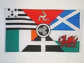 AZ FLAG Bandera Seis Naciones CELTAS 90x60cm - Bandera Celta - Paises CELTAS 60 x 90 cm