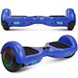 UNI-SUN Hoverboard Self Balancing Scooter 6.5' Two-Wheel Self Balancing Hoverboard with Bluetooth Speaker and LED Lights Electric Scooter for Adult Kids Gift UL 2272 Certified (Blue(No Bluetooth))