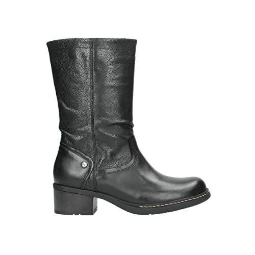 Wolky Comfort Stiefel Edmonton - 39000 schwarz Leder - 36