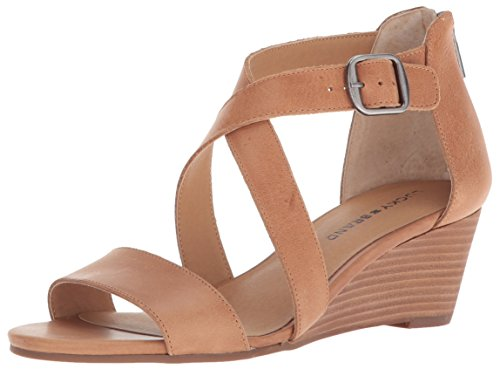 Lucky Brand womens Jenley Wedge Sandal, Dark Camel, 8 US