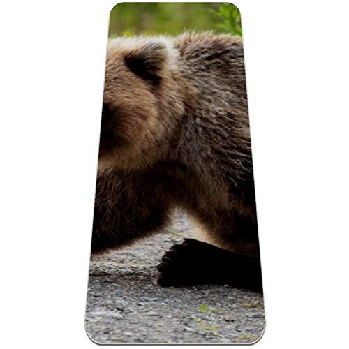 Esterilla Yoga Mat Antideslizante Profesional - Bear en el camino - Colchoneta Gruesa para Deportes - Gimnasia Pilates Fitness - Ecológica