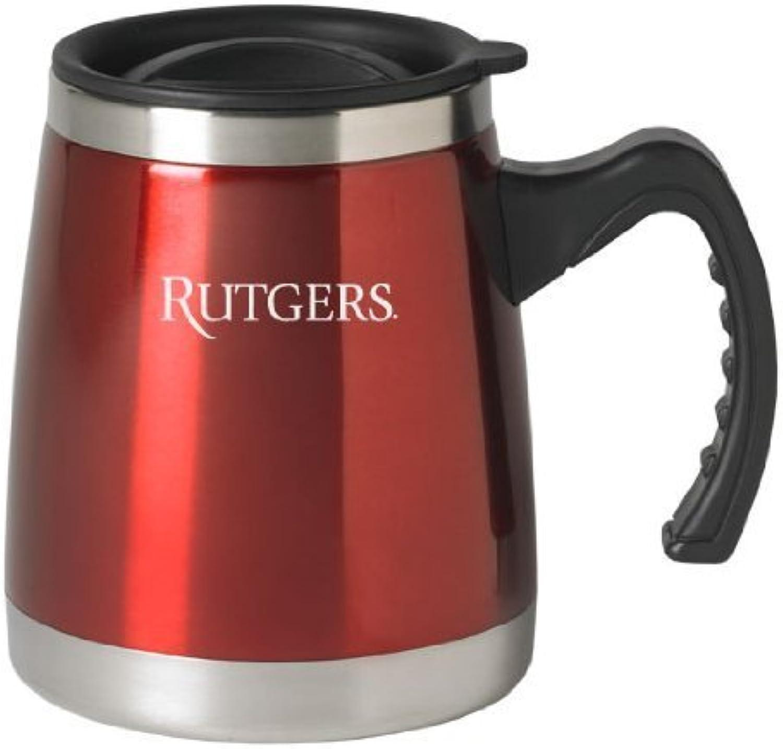 Rutgers University - 16-ounce Squat Travel Mug Tumbler - rot by LXG, Inc.
