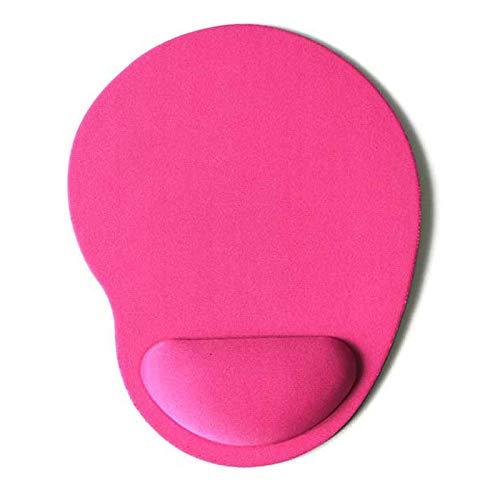 GGHHJ Mouse Pad muñeca Pulsera Mano Soporte Memoria Espuma Silicona muñeca Soporte Almohadilla Oficina portátil Alfombrilla de Escritorio Escritorio Juego Juego de Mesa Espesada tapete (Color : Pink)