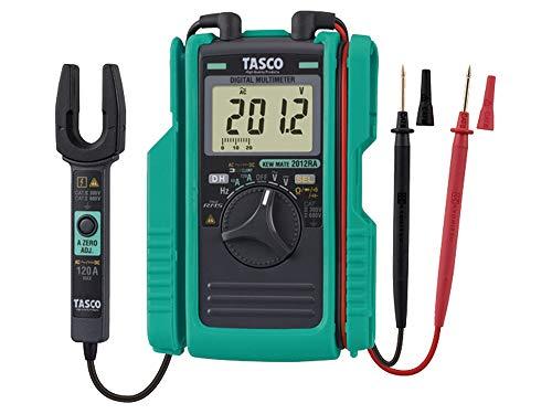 イチネンTASCO AC/DCクランプ付デジタルマルチメータ TA452TM