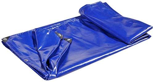 GRW GUOTarpaulin& Fiche Bleu étanche Bâche Robuste Couvre-Sol for Camping, pêche, Jardinage et animalerie, épaisseur 0,6 mm, 650 g/m², Options Multi-Taille (Size : 5mx7m)