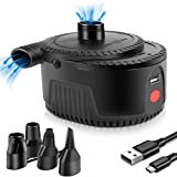 Rechargeable Air Pump with 4000mah Battery Operated Air Pump for Quick Inflate Deflate, Electric Air Pump for Air Mattress, Pool Floats, Air Bed, Swimming Ring, Water Toy