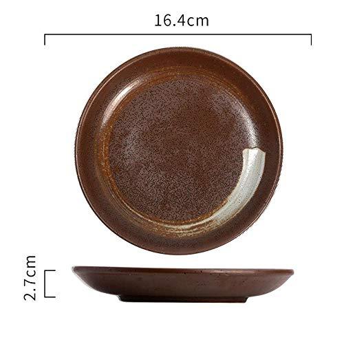 FaucetKAI Kaffeeservice Keramische runde Platte Gourmet-Platte Flache Platte Kuchen Dessertteller Obstteller