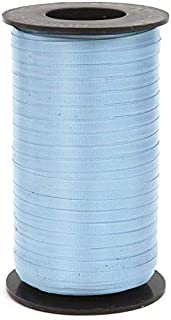 Berwick Splendorette Crimped Curling Ribbon, 3/16-Inch Wide by 500-Yard Spool, Light Blue