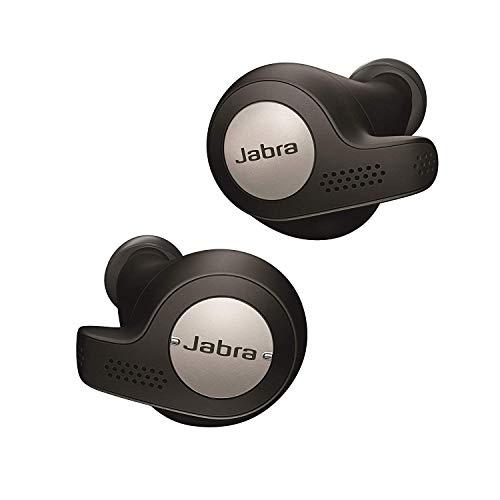Jabra Elite Active 65T Auricolari, Cuffie Sportive con Funzione Passive Noise Cancelling e Sensore di Movimento per l`Attività Fisica, Chiamate e Musica Wireless, Nero Titanio