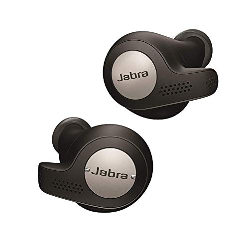 Jabra Elite Active 65t Cuffie Auricolari True Wireless, In-Ear, Bluetooth 5.0 con Custodia di Ricarica e Accesso One-Touch ad Alexa, Sport, Nero/Titanio